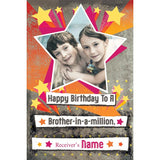 personalized cards | Brothers Birthday card online in India