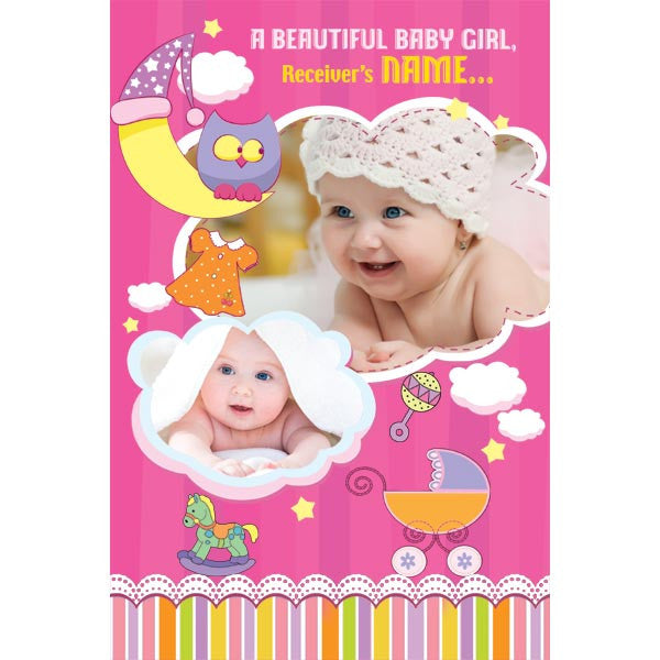 personalized cards | Birthday Card for Baby Girl Online India