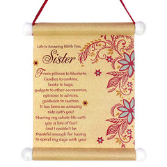 Gleeful Sister Scroll (Pack Of 4)