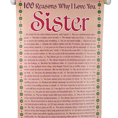 100 Reasons Of Loved Sister