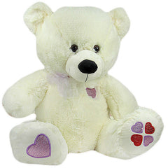 Elegant White 13.7 Inches Teddy Bear