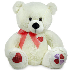 White Teddy Bear For Your Love