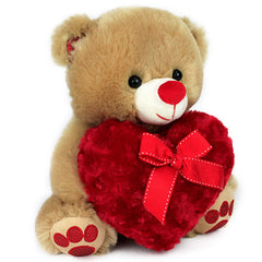 Stylish Love Heart Bear (25 Cm)