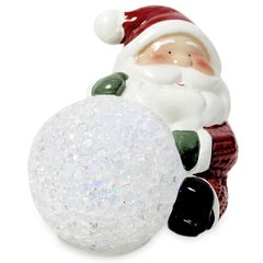 Stylish Santa With Ball LED Showpiece