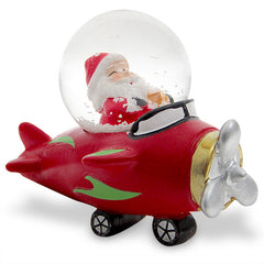 Awesome Santa Claus In Plane Showpiece