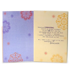 Amazing Teacher Greeting Card