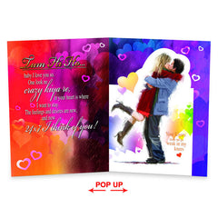 My World Begins With You And Me Jumbo Card