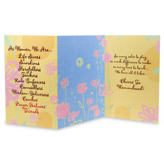 Pretty Floral Women`S Day Greeting Card