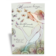 Appealing Women`S Day Greeting Card
