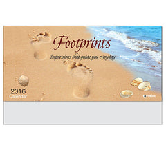 Footprints Guide Us Slim Wall Calendar