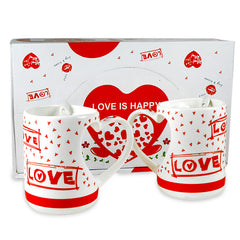 Love Is Happy Couple Mugs