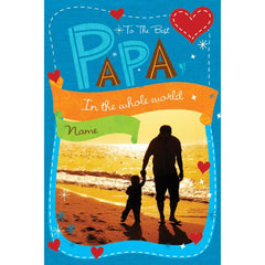 Personalised Card For Best Papa
