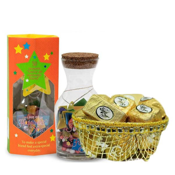 Best Hamper For Friends 2016 ( Quotes & Chocolate box )