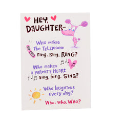 My Heart My Daughter - Greeting Card