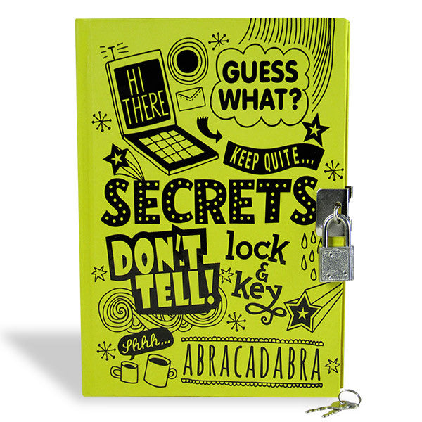 diary with lock and key