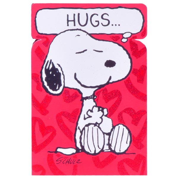Snoopy Sends Love Greeting Card