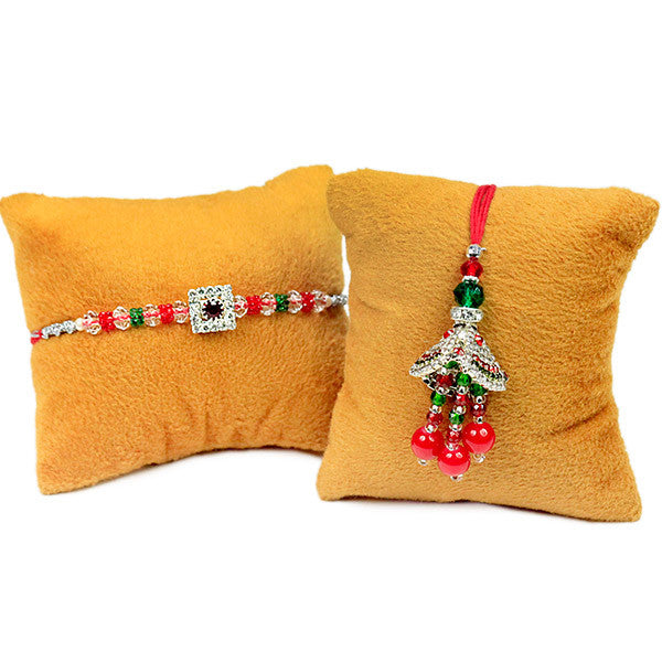 Shop online rakhi | Buy Beautiful Lumba Rakhi Set
