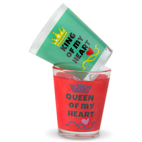 Shot Glass Set For King And Queen