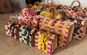 100% organic reed bags hand-made straw bags