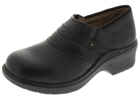 Black Womens Safety Clog ST