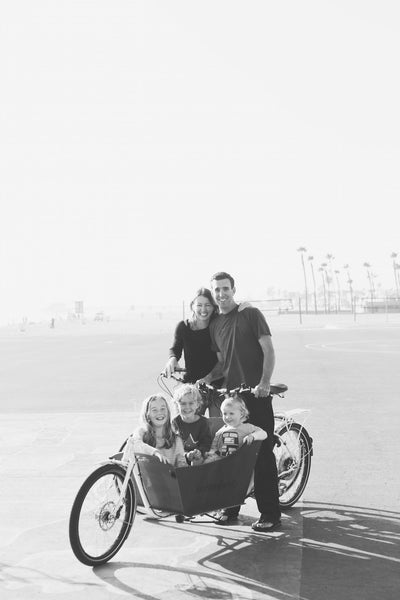 Jennifer and her family love biking together