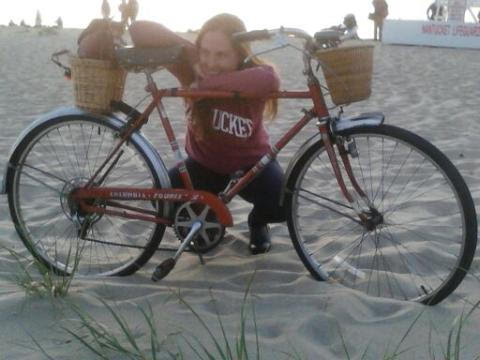 Queen Bee customer Heather with her sweet ride