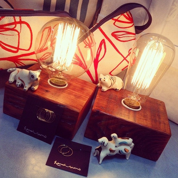 makennas gift guide loop pouch handprinted edison bulb lamp