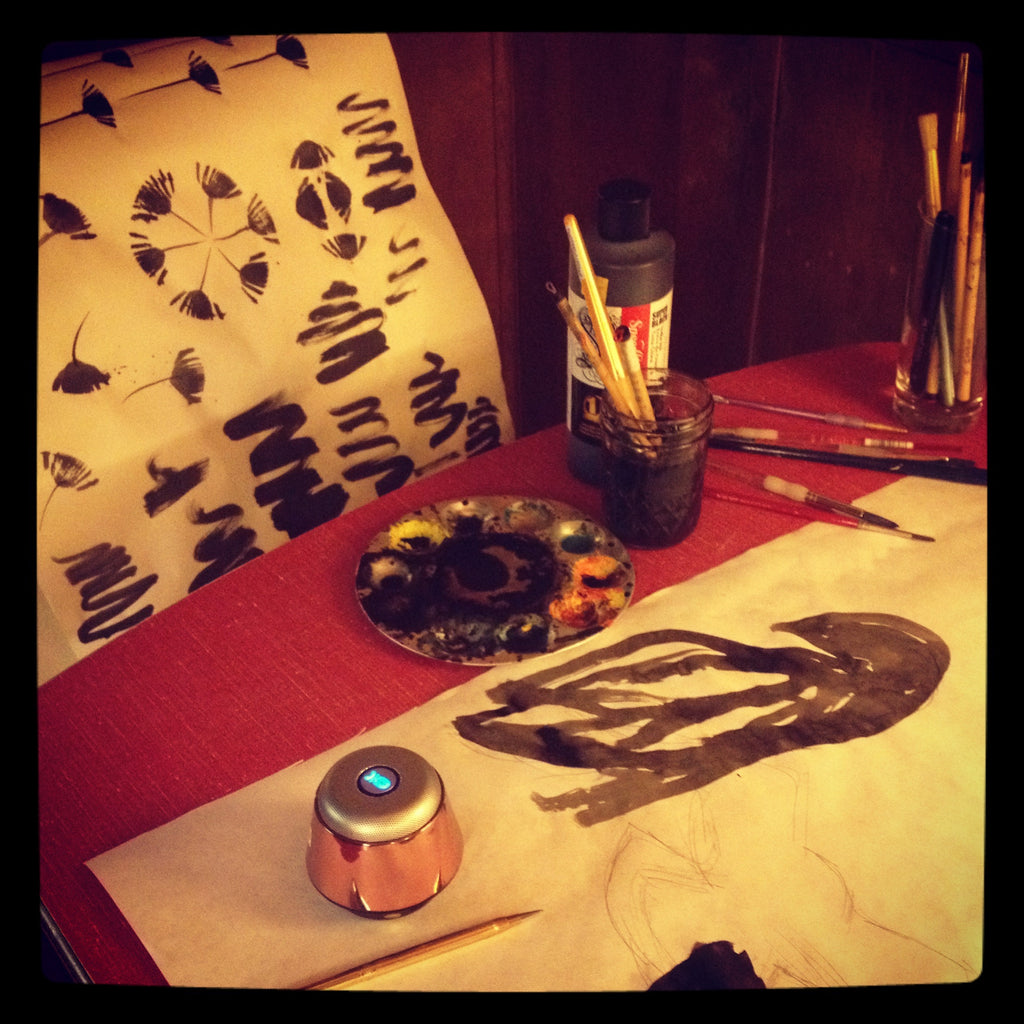 painting crows in my spartan royal mansion at the sou'wester