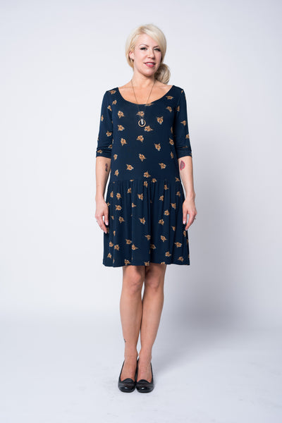 hubris designs fox print dress fall 15 pdx portland fashion
