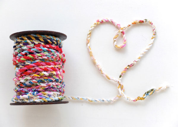 DIY fabric scrap tutorial twine