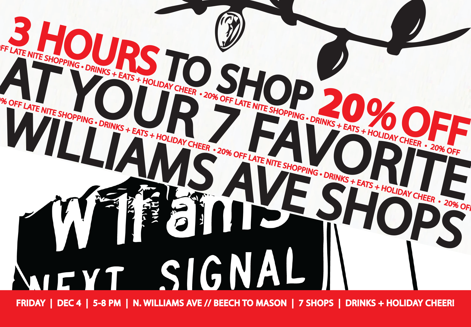shop late on williams and save 20%