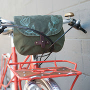 Waxed Canvas Handlebar Bag - 'Western Stitch'