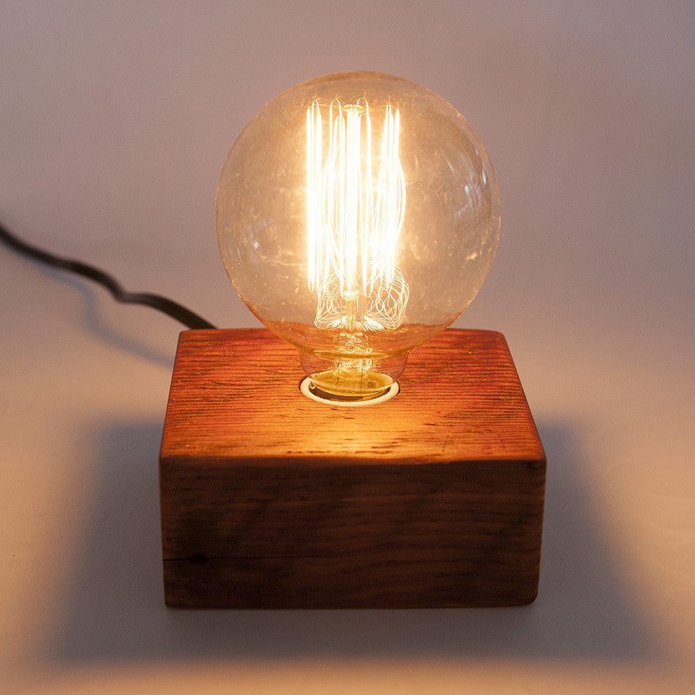 Solo Bulb Wood Block Lamp -Bengston Woodworks - Queen Bee by ...