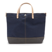 Color Block Vessel Tote Bag - Small Navy