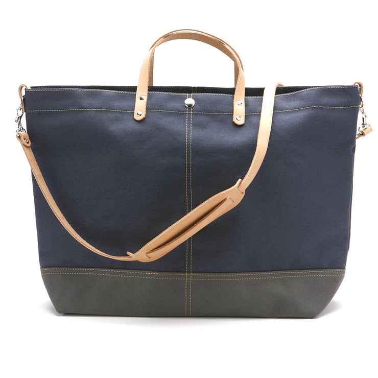 Color Block Vessel Tote Bag - Large Navy