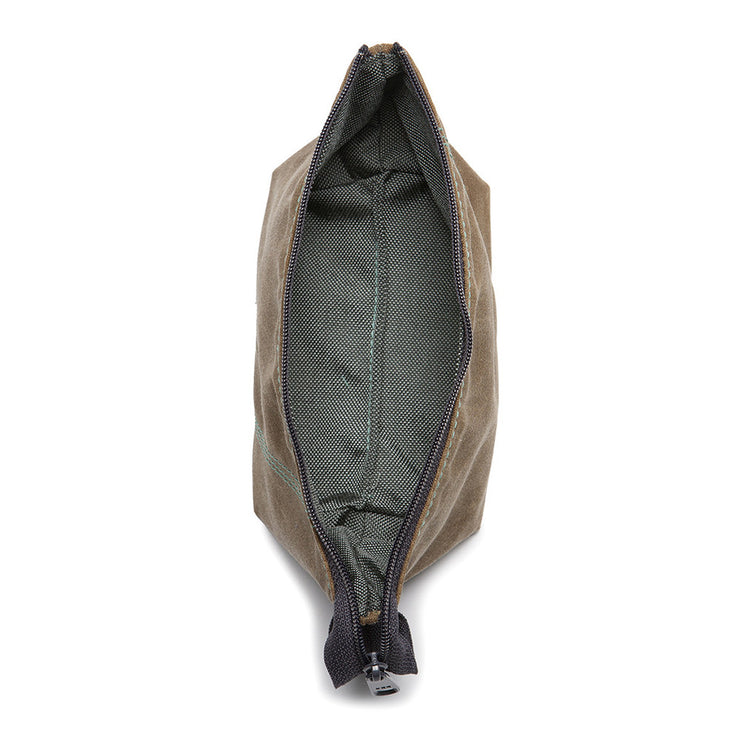 Loop Pouch - Olive Waxed Canvas