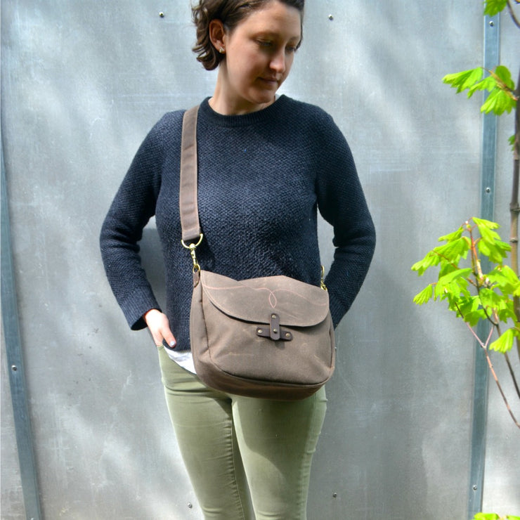 Waxed Canvas Marlo Purse - 'Western Stitch'