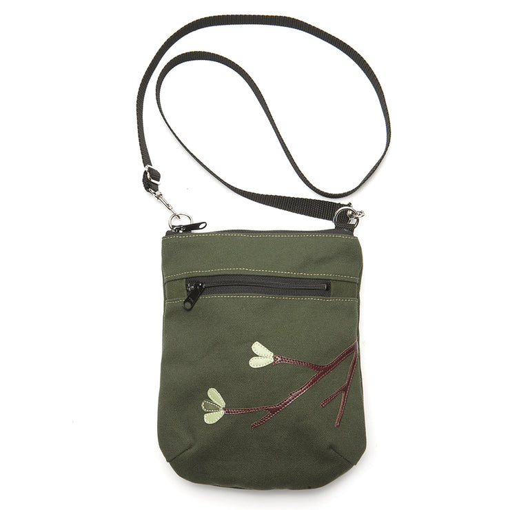Canvas Vinni Mini Crossbody Purse - 'Midori'