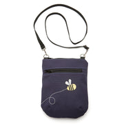 Canvas Vinni Mini Crossbody Purse - 'Honeybee'