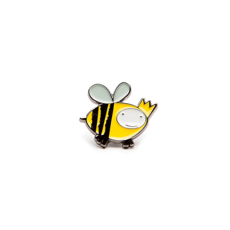 'Queen Bee' Logo Enamel Pin