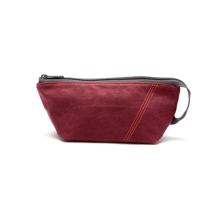 Loop Pouch - Plum Waxed Canvas