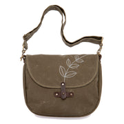 Waxed Canvas Marlo Purse - 'Sprout'