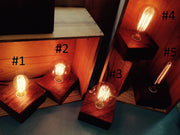 Solo Bulb Wood Block Lamp by Bengston Woodworks