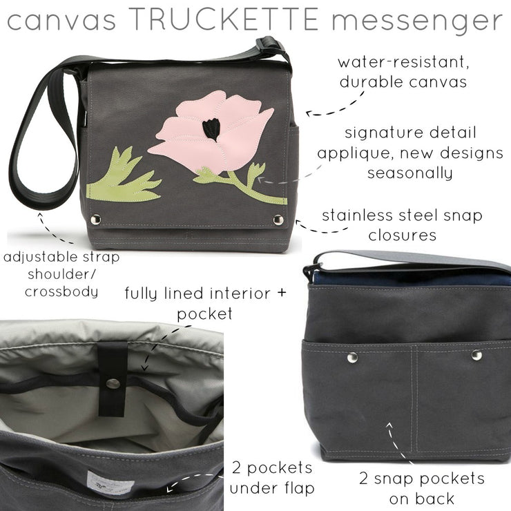 Canvas Truckette Messenger Bag - 'Honeybee'