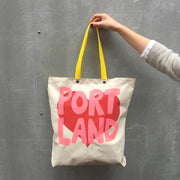 Pocket Tote Bag - Portland Love