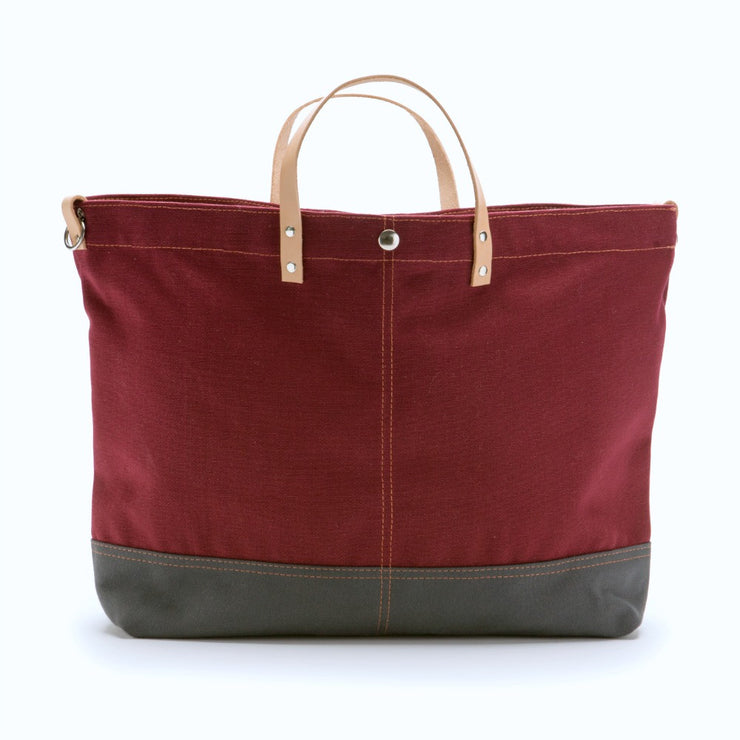 Color Block Vessel Tote Bag - Small Wine