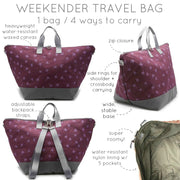 Weekender Travel Bag - ' Printed Brushstroke'
