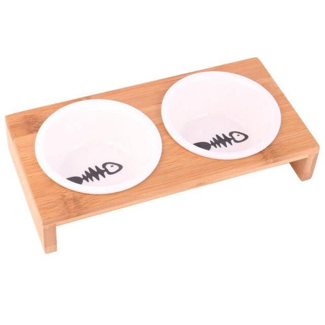 Round Ceramic Bowl with Antiskid Wooden Frame (3709419847760)