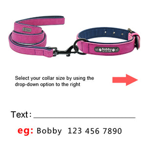 Personalized Leather Dog Collars (3709476634704)