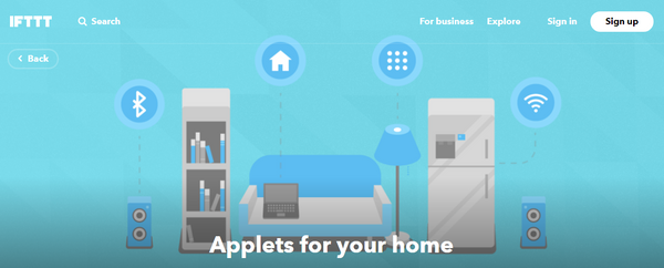 Applets for smart home devices
